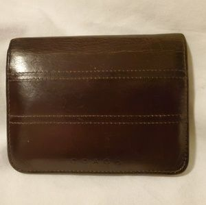 Beautiful Soft Brown Leather Coach Bifold Wallet